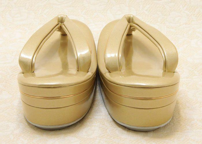 礼装用ゴールド草履